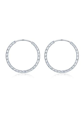 MBLife silver 925 Sterling Silver Hoop Earrings (29mm) 76091ACF62AB42GS_1