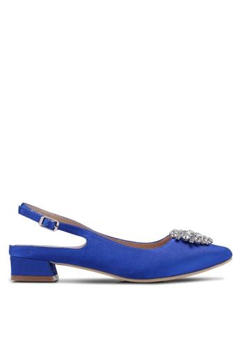 Nose 藍色 Crystal-Embellished Slingback Heels C90F3SH8A1FE22GS_1