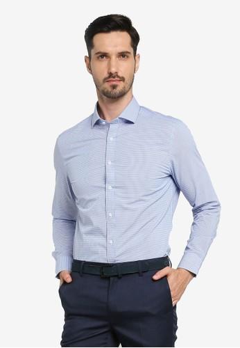 G2000 blue Checked Core Yarn Dye Shirt 734EFAA8AC13F8GS_1