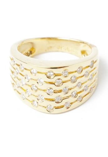 CEBUANA LHUILLIER JEWELRY gold 18 Karat Yellow Gold Lady Ring With Diamonds 4EFC1AC21976B5GS_1