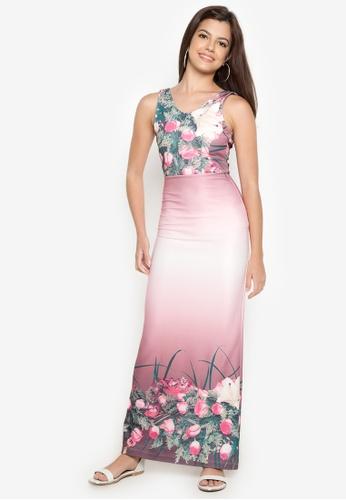 Purple Shore pink Ladonna Dress PU831AA42RMFPH_1