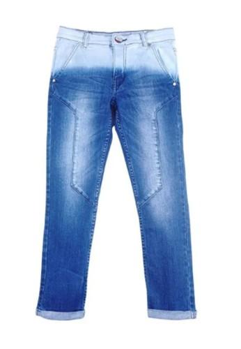 KIDS ICON blue Kids Icon CL601200190 Colours with Motif Navy Washing Celana Denim Anak Laki-Laki 6A4ECKABBDEE81GS_1