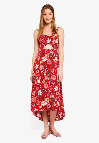 Hollister red Front Cutout Maxi Dress FBCD2AA72859FCGS_1