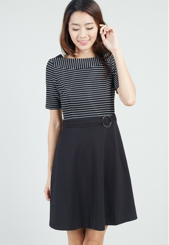 Moss Fashion black and white Jacquelynn Dress in Black MO819AA0FZZDSG_1
