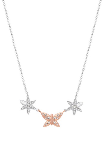 Morellato silver Natura Necklace SAHL02 Jewel Rhodium-Plated In Silver PVD Rose Gold Cryst 93B17AC244511CGS_1