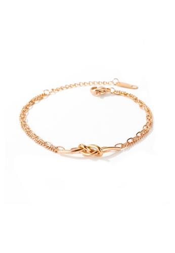 CELOVIS gold CELOVIS - Eternity Knot Double Layer Bracelet in Rose Gold F3195AC8CF4C6DGS_1