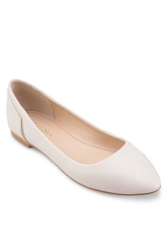鞋背拼接尖頭平底鞋、 女鞋、 鞋ZALORA鞋背拼接尖頭平底鞋最新折價