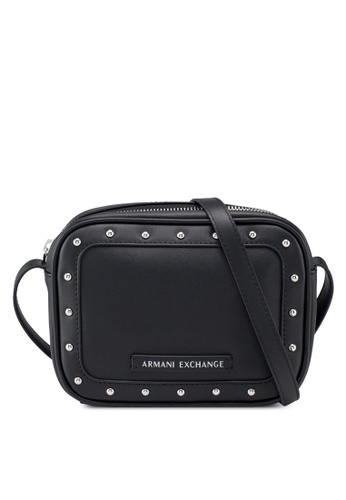 57be7a55140f Buy Armani Exchange Stud Border Crossbody Bag Online on ZALORA Singapore