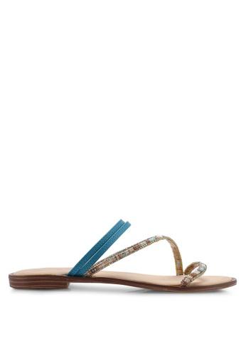 Divine Factory blue Terisa Sandals F4612SHF5944D8GS_1