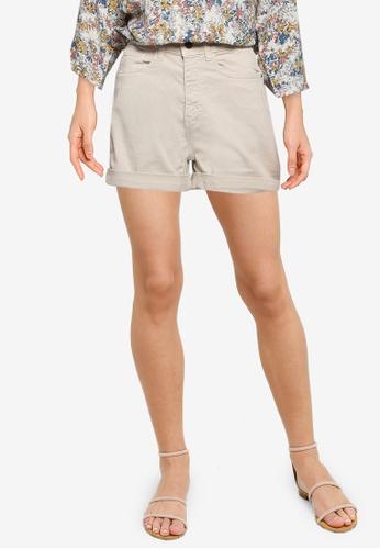 JACQUELINE DE YONG grey High Waist Shorts 3F198AA14965E2GS_1
