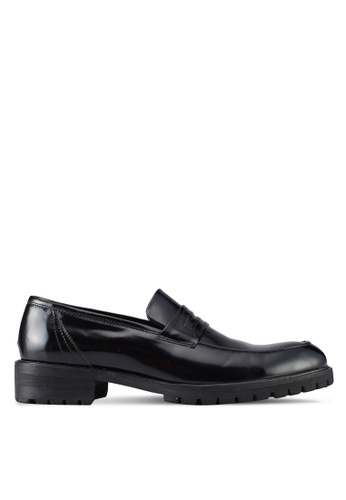 ZALORA black Faux Leather Slip On Dress Shoes 872A4SH724A088GS_1