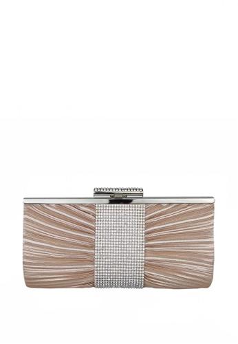DNJ gold Fancy Bowtie Clutch bag DN487AC0KS7IPH_1