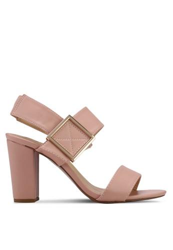 Something Borrowed pink Block Heel Sandals 0FEC6SHE11767AGS_1