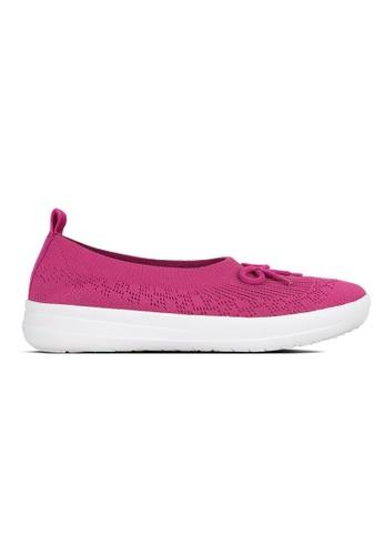 558d380f7 FitFlop pink Fitflop Uberknit Slip-On Ballerina With Bow (Fuchsia)  3340FSH1F9932CGS 1
