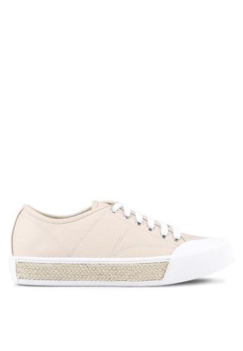 Something Borrowed beige Rope Contrast Sneakers 10AC9SHA778DB0GS_1