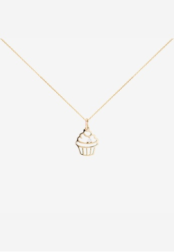 AS29 yellow Miami Cup Cake Necklace 14K Yellow Gold With Diamond 75452ACDA4F436GS_1
