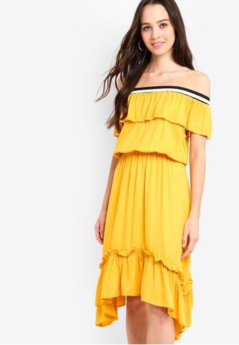 cdd65c110953 Buy Something Borrowed Off Shoulder Midi Dress Online on ZALORA Singapore