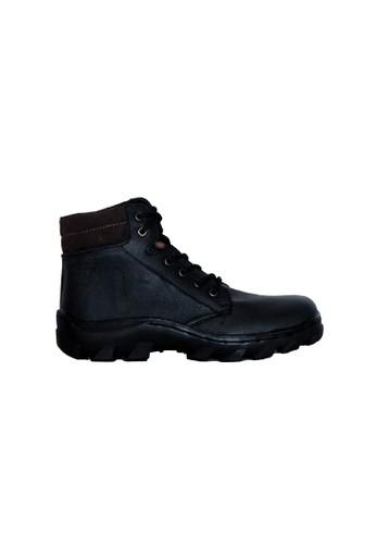 D-Island black D-Island Shoes Ballard Boots Trekking Black Genuine Leather DI594SH91RIAID_1
