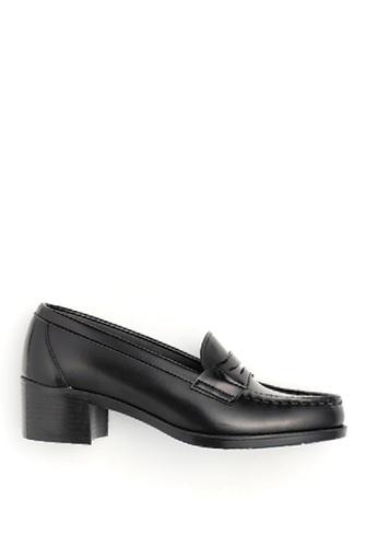 HARUTA 黑色 高跟樂福皮鞋 8A49CSHF4EB60DGS_1