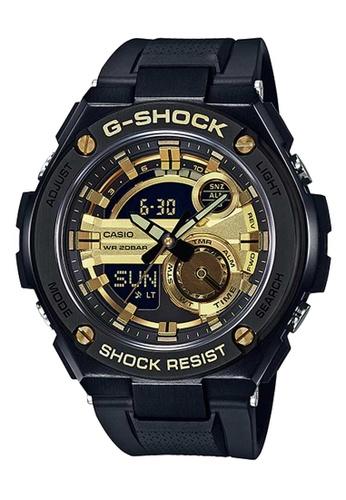 CASIO black Casio G-Shock G-Steel Gold and Black Resin Watch 62F2BAC2896956GS_1