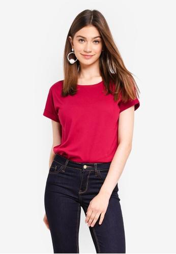 JACQUELINE DE YONG red Louisa Fold Up Top 66FD9AAEC90DD3GS_1