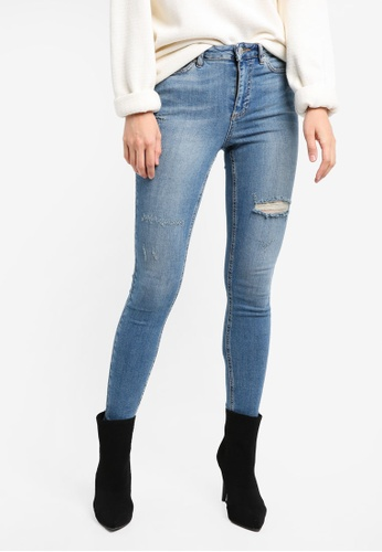 Miss Selfridge blue Lizzie Cast Jeans MI665AA0SS6QMY_1