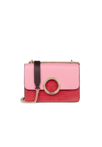 Tous pink TOUS Small Pink and Red Audree Crossbody Bag DA7F1ACB5F466FGS_1