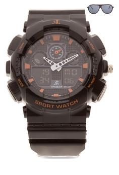 Chronograph Watch With Free Sunglasses JC-H1145C-SB-05