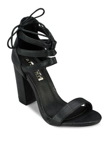 Paramounesprit 品質t 多帶綁踝粗跟涼鞋, 女鞋, 鞋