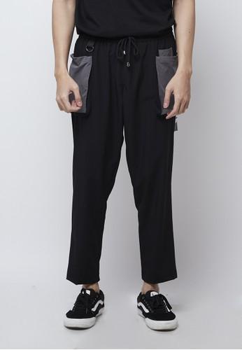 RESILEN black Resilen Black Utilitarian Cargo Grey Pocket Male Pants 35B1CAAE77ABB4GS_1