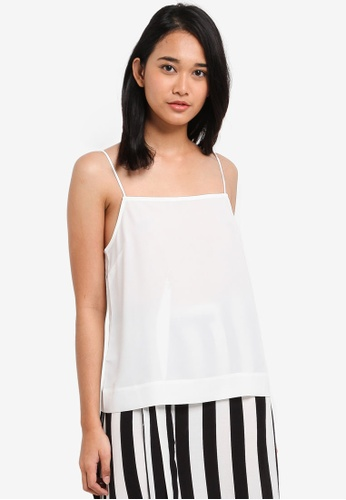 TOPSHOP white Square Neck Camisole Top 5B183AA85A92F0GS_1