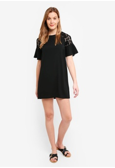 30% OFF ZALORA BASICS Basic Lace Sleeve Dress S  29.90 NOW S  20.90 Sizes  XS S de33beddf