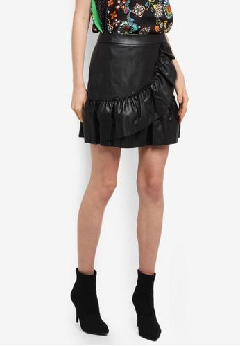 River Island black Frill Mini Skirt C0FE3AAF4C680CGS_1