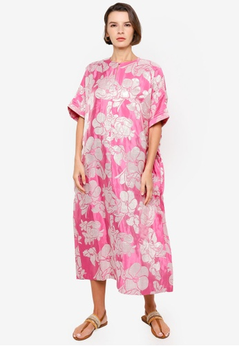 H&M pink and multi Shimmering Metallic Kaftan FE6ADAA71B8F5DGS_1