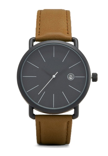 LEUPP black and brown Muyo Leather Watch TO983AC02PGJPH_1