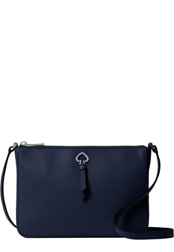 Kate Spade navy Kate Spade Adel Medium Top Zip Crossbody Bag in Blazer Blue 19330AC2A4F396GS_1