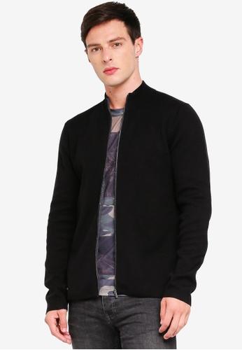 MANGO Man 黑色 High Collar Basic Cardigan 6C2D8AA0C26C5DGS_1
