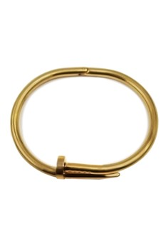 Twisted Nail 18k Gold Plated Bracelet 20195
