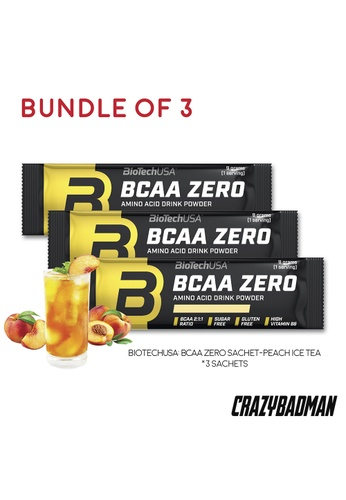 BioTechUSA [Bundle of 3] BCAA Zero 9g - Peach Ice Tea AAEF9ES6935683GS_1