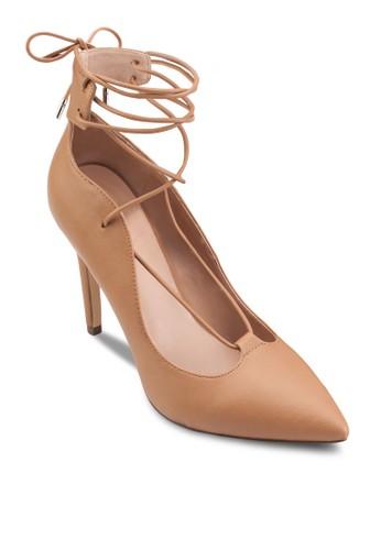 纏繞式繞esprit台灣踝尖頭高跟鞋, 女鞋, 鞋