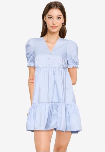URBAN REVIVO blue Casual Dress DB5A1AA0729DE6GS_1