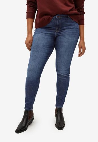Violeta by MANGO blue Plus Size Super Slim-Fit Andrea Jeans 33F66AAA8189A9GS_1