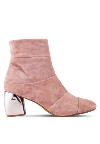 Mango pink Mirror Heel Suede Ankle Boots MA193SH0ROQYMY_1