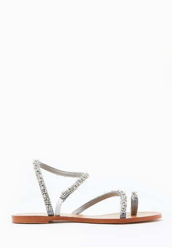 PAZZION grey Crystallic Sandals BDB20SH64371CBGS_1