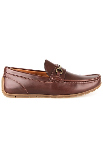 Tomaz brown Tomaz C380 Buckle Moccasins (Coffee) 73903SHE3A22EFGS_1