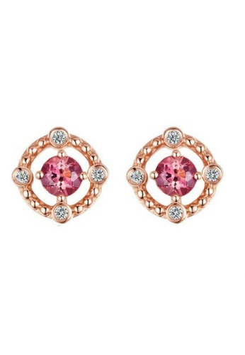 Vivere Rosse Grapefruit Shine Multiway Stud Earrings VI014AC43FAEMY_1