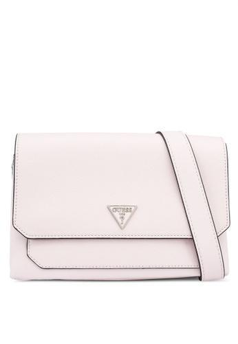 Guess pink Ambrose Flap Bag Shoulder Bag 4326FACACBEEBCGS_1