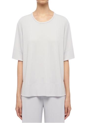 ck Calvin Klein 灰色 人造纖維針織上衣 A28D6AA956807EGS_1