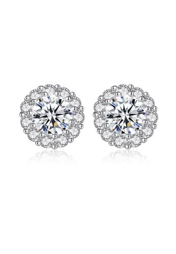 SUNRAIS silver High quality Silver S925 silver fashion earrings 45477AC253B623GS_1