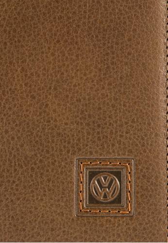 Volkswagen brown Volkswagen Genuine Leather Bi-Fold Long Wallet VO089AC91EKAMY_1